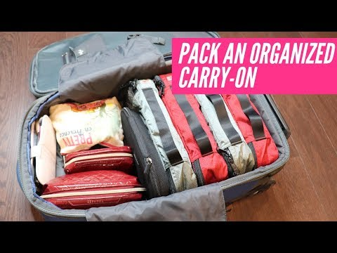 ✈️Pack With Me In A Carry On!   Organized Travel 🧳