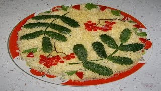 Очень вкусный салат с крабовыми палочками!
