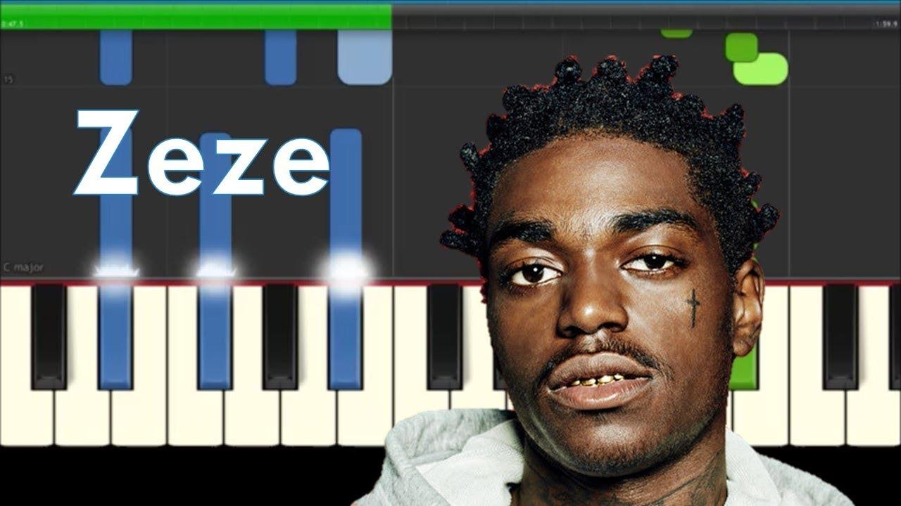 Kodak Black ZEZE ft Travis Scott & Offset Piano Tutorial with Chords