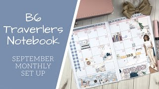 DECORATE WITH ME | B6 TRAVELERS NOTEBOOK | MONTHLY SET UP | BEYOUTIFUL  PLANNING: HUSTLE & HEART