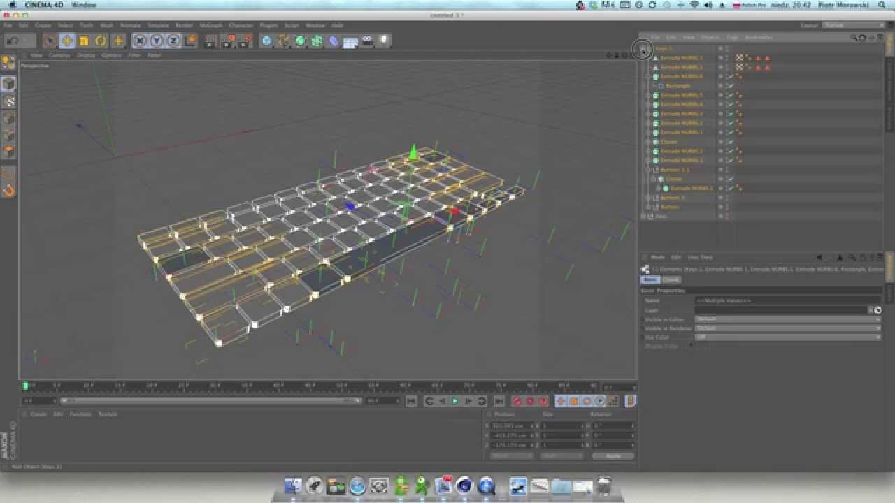 How connect all grouped objects and to make editable it + resize rescale  proprtional in Cinema 4D