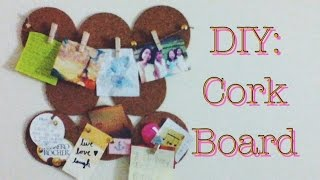 Diy: Cork Board Room Decor