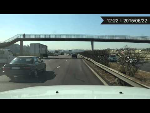 Scenic drive from Westville to Umhlanga via N2 highway winter footage