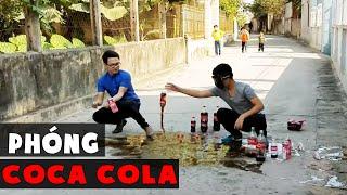 NGHỊCH NGU   TRUNG TÔ Vlogs   Thí Nghiệm Chơi Tên Lửa Bay Coca Bay Vỡ Mặt ( rocket coca ) ✔