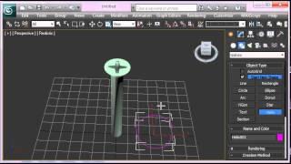 Моделирование шурупа в 3dsMax