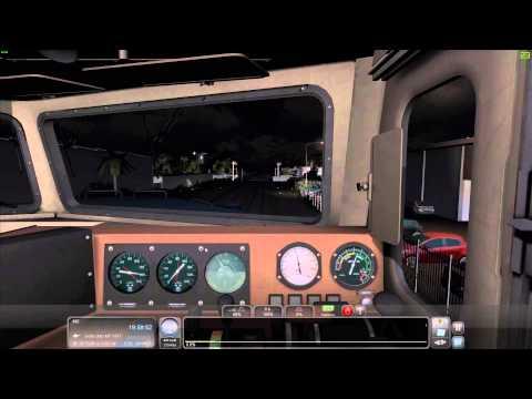 Train Simulator 15 - Dash 8 40CW - Steinbeförderung durch die Nacht  - Miami-West Palm Beach