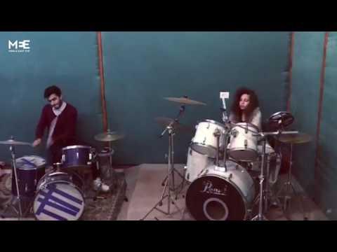 Gaza's first girl drummer