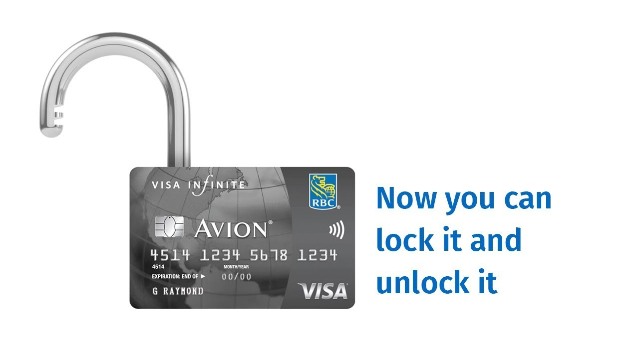 The Lost Card Bop – Lock and unlock your RBC credit card