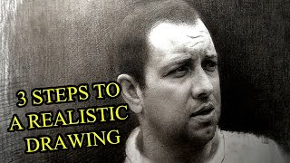3 SIMPLE STEPS TO A PHOTO REALISTIC DRAWING. TUTORIAL BY SERGEY GUSEV.