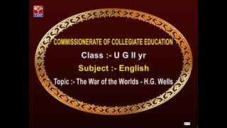 CCE || English - The War of the Worlds - H.G. Wells || LIVE With E. Ram Bhaskar Raju