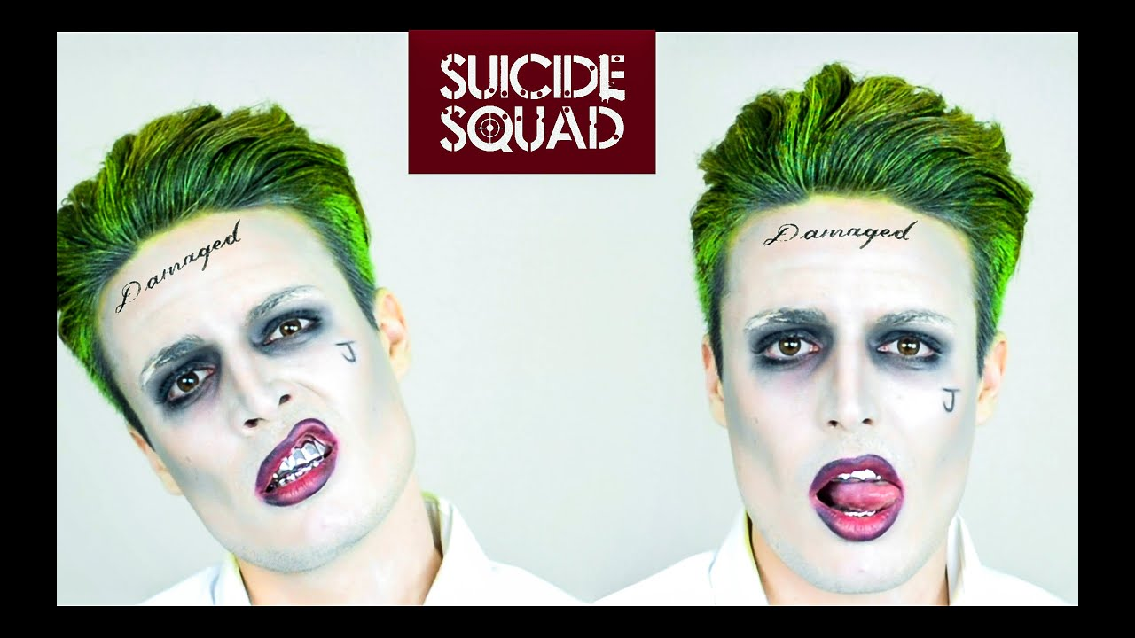 The Joker from Suicide Squad Hairstyle Tutorial + Makeup