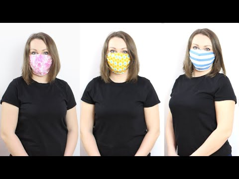 Как сшить маску для лица за 5 минут для взрослых и детей. Многоразовая защитная маска!