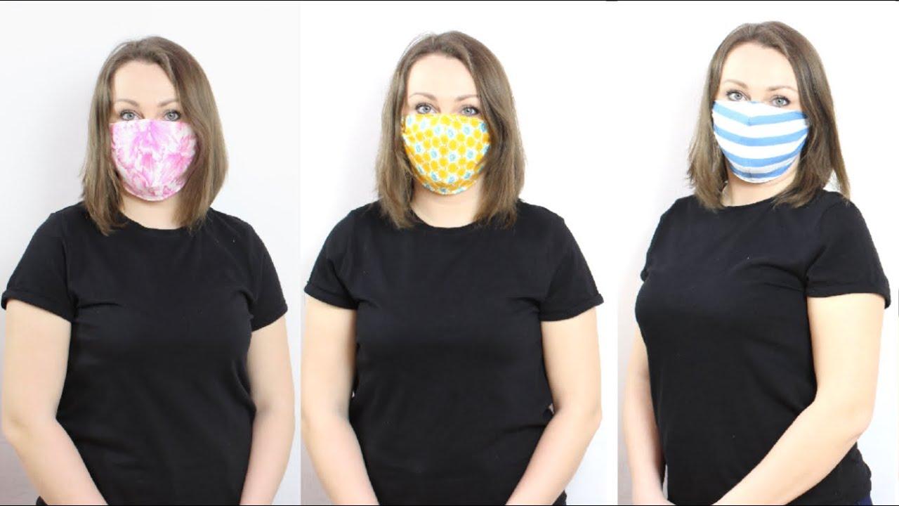 Как сшить маску для лица за 5 минут для взрослых и детей ...