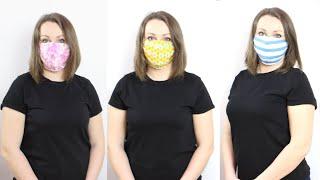 Как сшить маску для лица за 5 минут для взрослых и детей Многоразовая защитная маска