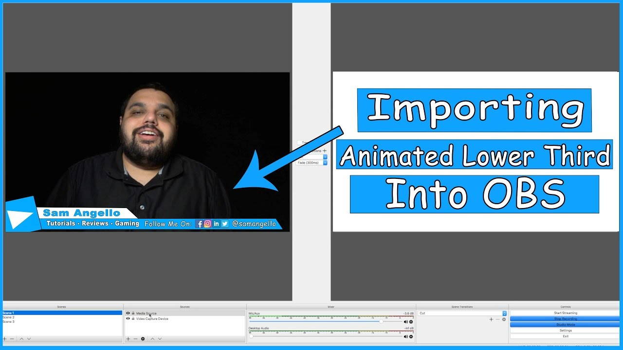 How To Set Up An Animated Lower Third In Obs Studio Youtube