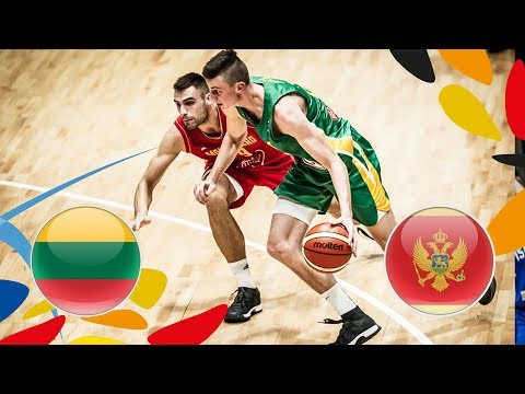 Lithuania v Montenegro - Full Game - FIBA U20 European Championship 2018