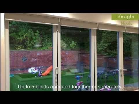 Electric Motorised Blinds for Bi-folding Doors