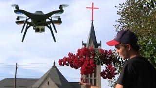 Drone, Tifton, Ga Crape Myrtle Visit To 1st Baptist Church Chapel Restoration