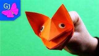 Оригами Собака Кусака из бумаги