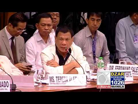 MAYOR RODRIGO DUTERTE FACE TO FACE WITH DAVIDSON BANGAYAN ON RICE SMUGGLING