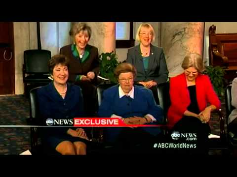 Mikulski, Senate Women Interview with Diane Sawyer on ABC World News Tonight - Part 2