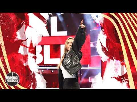 "2018: Ronda Rousey 1st WWE Theme Song - ""Bad Reputation"" ᴴᴰ"