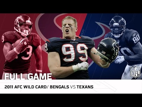 2011 AFC Wild Card: Cincinnati Bengals vs. Houston Texans | NFL Full Game