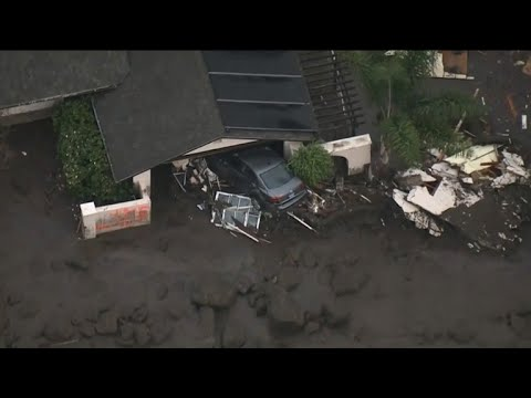 California crews search for survivors of mudslides