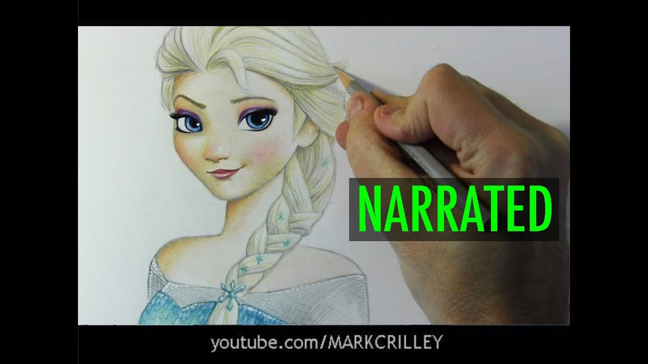 How To Draw Elsa From Frozen Narrated Step By
