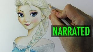 "How to Draw Elsa from ""Frozen"" [Narrated Step-by-Step]"