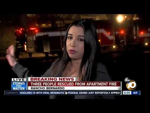 Three people rescue from Rancho Bernardo fire