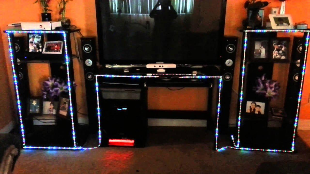 Luces de dj en el mueble de la tele youtube - Muebles para dj ...