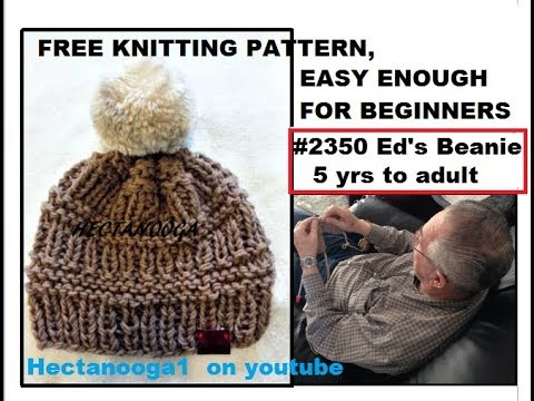 Free Knitting Pattern Ed S Beanie Touque 2350 And Home Made