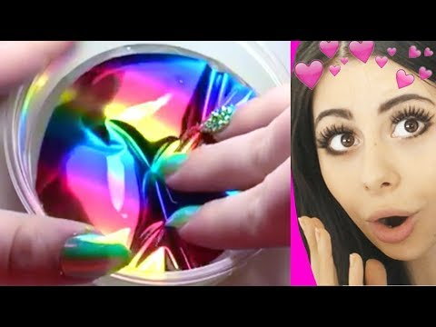 Oddly SATISFYING Video Compilation - ASMR , Slime Pressing a
