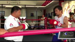 Manny Pacquiao Getting Ready for his Match Against Lucas Matthysse
