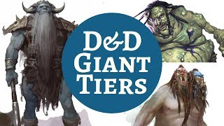 D&D MONSTER RANKINGS - GIANTS
