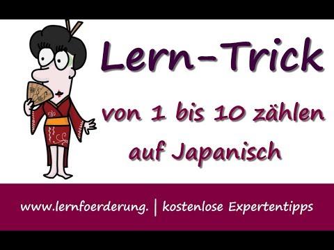Japanisch Zählen 1 Bis 10 Lernmethode Visual Codes Youtube
