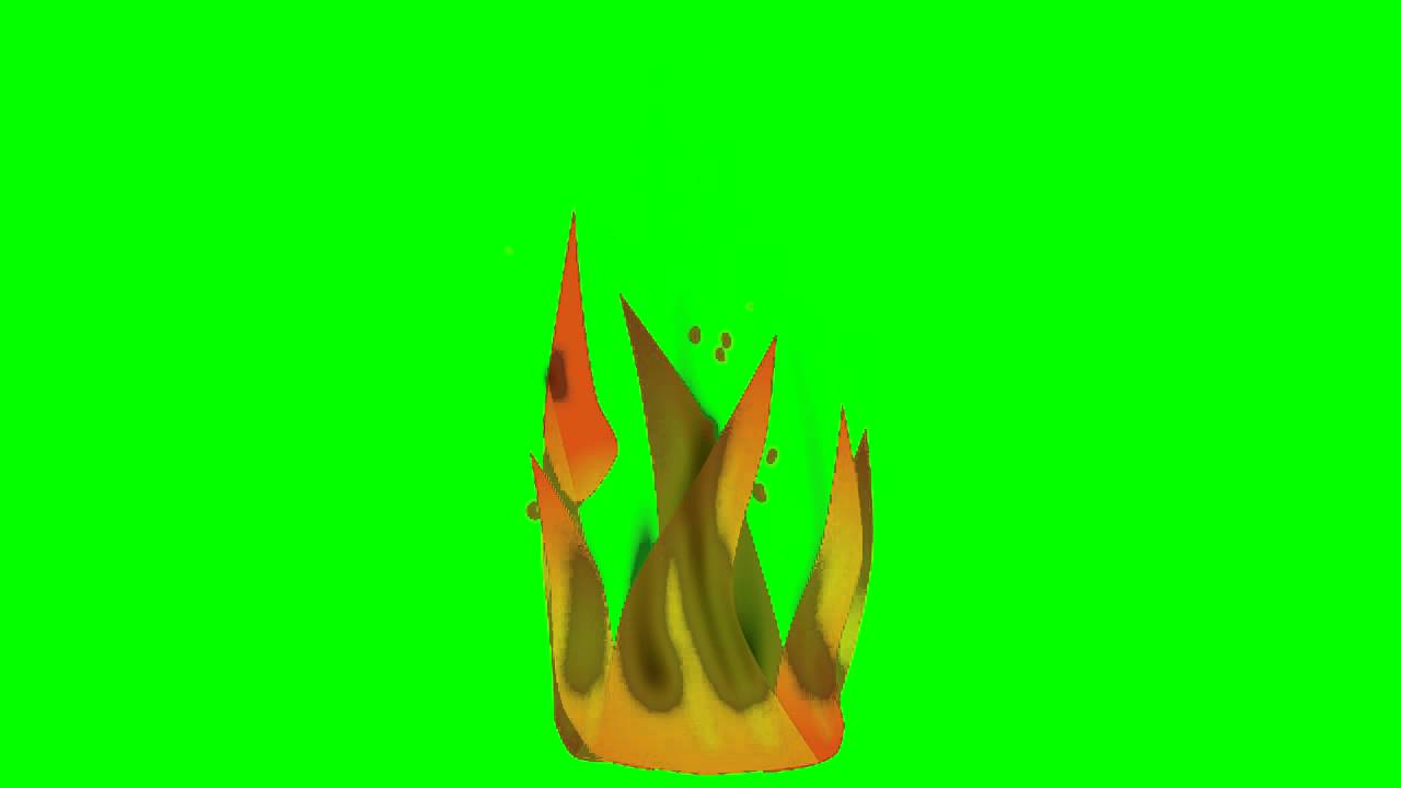 Animated Fire ~ Green Screen - YouTube