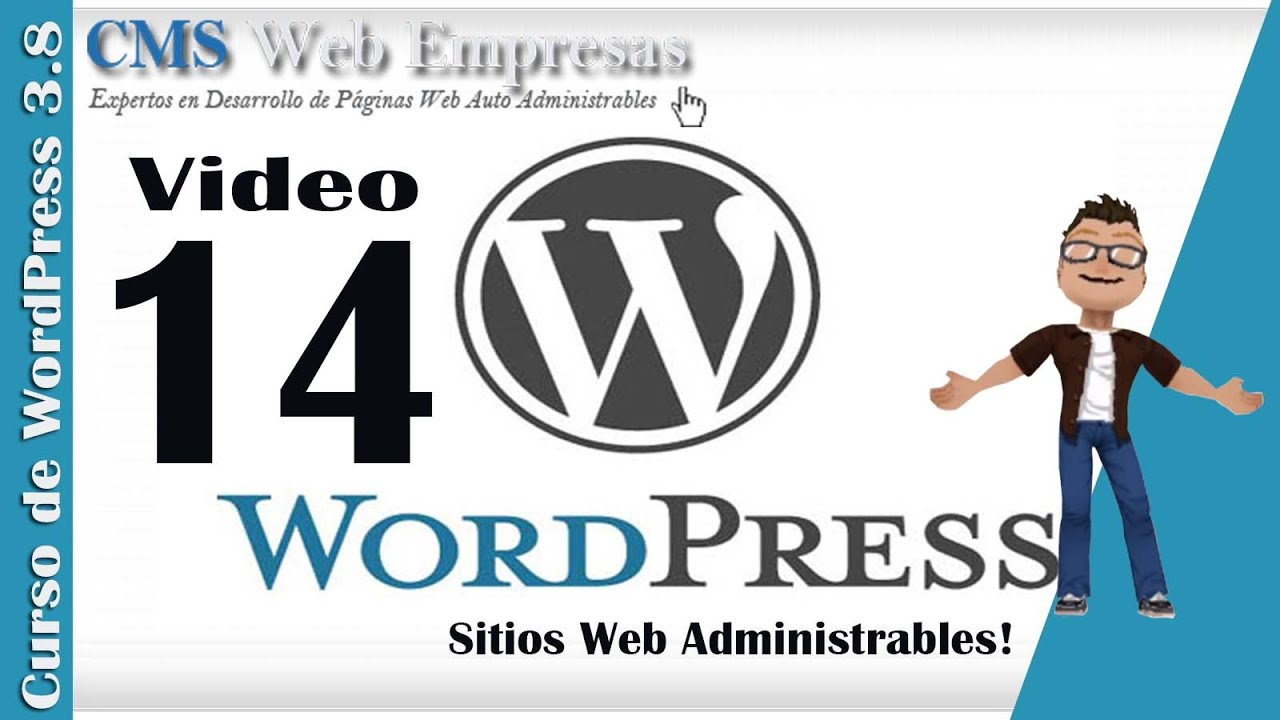 14. Sitio y Administrador de WordPress - Plantilla Responsive - YouTube