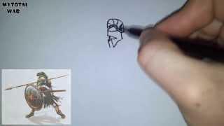 Рисую юни - Спартанский гоплит
