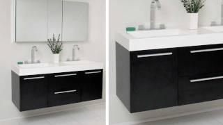 Fresca Opulento Black Modern Double Sink Bathroom Vanity w/ Medicine Cabinet - FVN8013BW