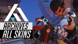 Overwatch All Archives 2018 Legendary Skins In-Game [Uprising/Retribution]