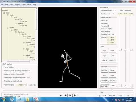 part 01 Extracting specific animations from CMU BVH Files