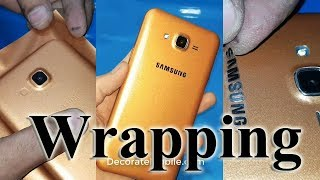 How to lamination samsung mobile with logo  wraping tricks