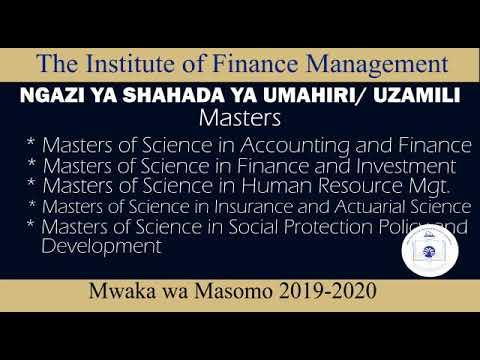 Kujiunga na IFM kwa mwaka wa masomo 2019/2020