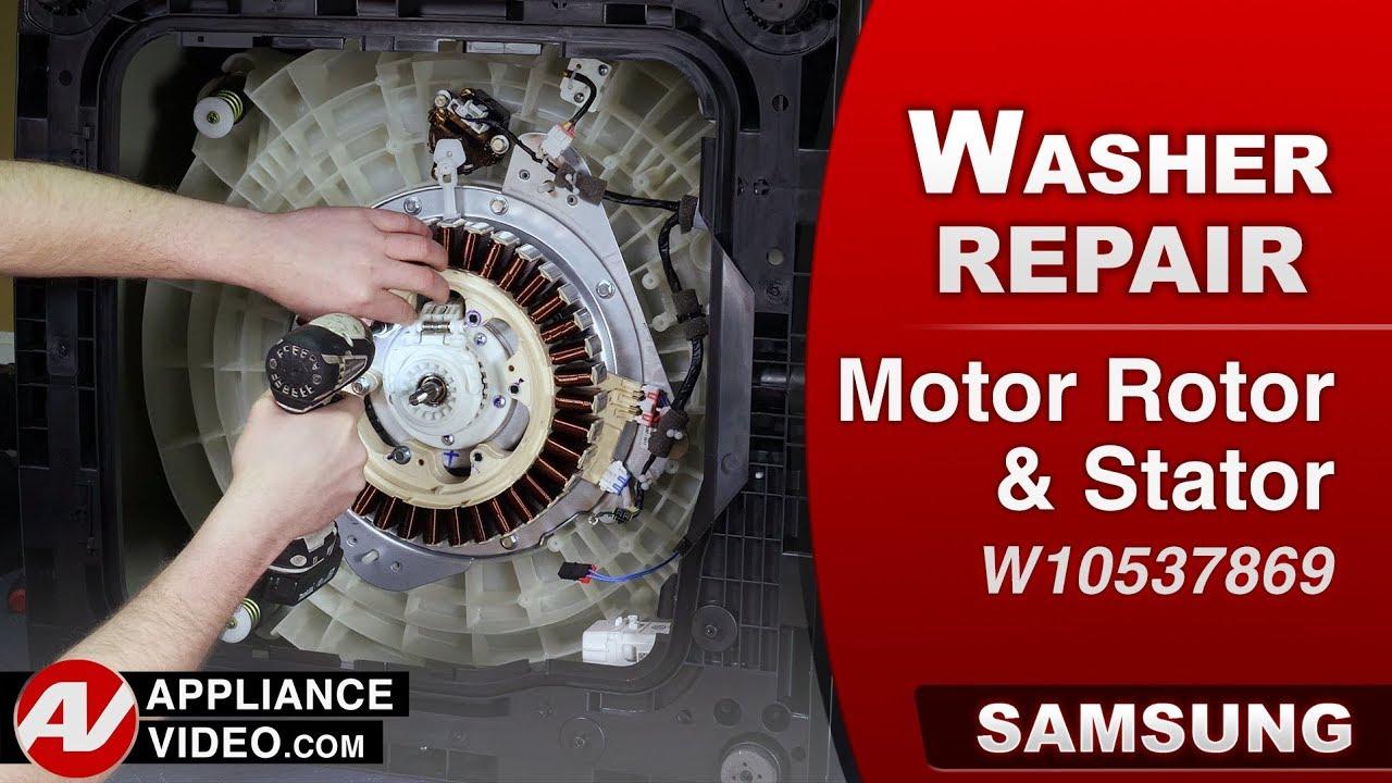 Samsung Washer - Diagnostic & Repair - Motor Rotor & Stator
