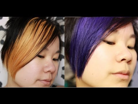 semi permanent hair dye before after how to video youtube