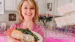 Easy Parmesan Crusted Halibut Recipe! Make Fish in Minutes!