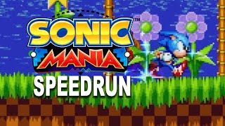 Sonic Mania: world's first speedrun! PS4 Time Attack gameplay