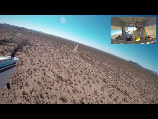 Landing at Sells, AZ Airport - E78